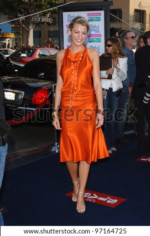 Actress BLAKE LIVELY at the world premiere, at the Chinese Theatre, Hollywood, of her new movie The Sisterhood of the Traveling Pants. May 31, 2005 Los Angeles, CA  2005 Paul Smith / Featureflash - stock photo