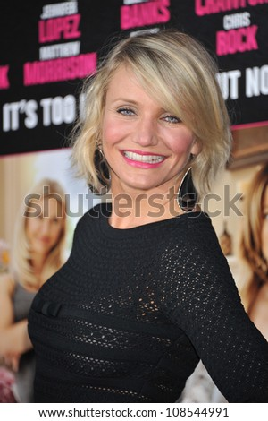 Actress Cameron Diaz arrives at the premiere of 'What To Expect When You're Expecting' held at Grauman's Chinese Theatre in Hollywood. - stock photo