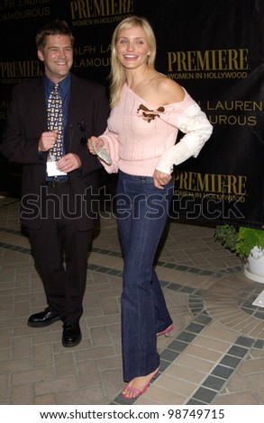 Actress CAMERON DIAZ at Premiere Magazine's Women in Hollywood luncheon at the Four Seasons Hotel, Beverly Hills. She was honored with the magazine's Icon Award. 22OCT2001.   Paul Smith/Featureflash - stock photo