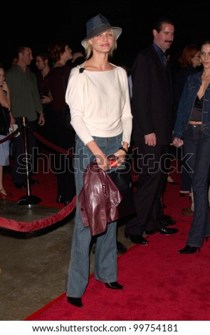 Actress CAMERON DIAZ at the Los Angeles premiere, in Hollywood, of Requiem For A Dream. 16OCT2000.   Paul Smith / Featureflash - stock photo