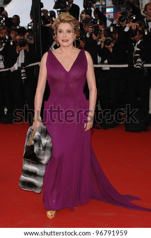 Actress CATHERINE DENEUVE at the gala opening of the 58th Annual Film Festival de Cannes.  May 11, 2005. Cannes, France  2005 Paul Smith / Featureflash - stock photo