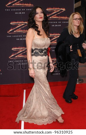 Actress CATHERINE ZETA-JONES at the Los Angeles premiere of her new movie The Legend of Zorro. October 16, 2005  Los Angeles, CA.  2005 Paul Smith / Featureflash