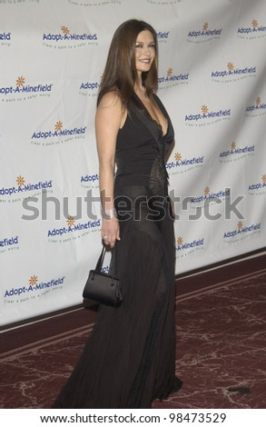 Actress CATHERINE ZETA-JONES at the 3rd Annual Adopt-A-Minefield Benefit Gala at the Beverly Hills Hilton. Sept 23, 2003  Paul Smith / Featureflash - stock photo