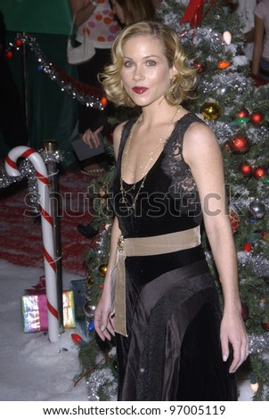 Actress CHRISTINA APPLEGATE at the Hollywood premiere of her new movie Surviving Christmas. October 14, 2004