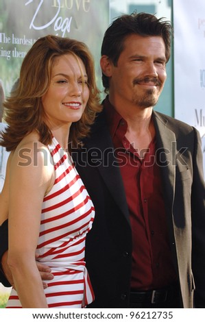 Actress DIANE LANE & husband actor JOSH BROLIN at the US premiere of her new movie Must Love Dogs, at the Cinerama Dome, Hollywood. July 21, 2005  Los Angeles, CA  2005 Paul Smith / Featureflash