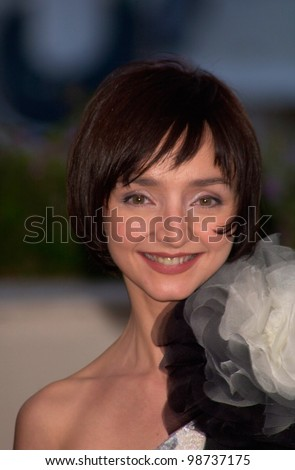 Actress/director MARIA DE MEDEIROS at the closing ceremony and awards for the 54th Cannes Film Festival. 20MAY2001.  Paul Smith/Featureflash