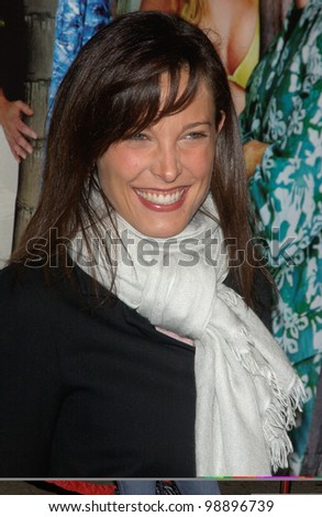 Actress ERIN DANIELS at the world premiere of The Big Bounce, in Los Angeles. January 29, 2004