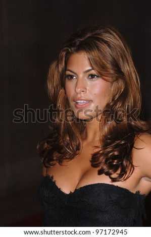 Actress EVA MENDES at the Women in Film 2005 Crystal + Lucy Awards at the Beverly Hilton Hotel. June 10, 2005. Beverly Hills, CA  2005 Paul Smith / Featureflash - stock photo