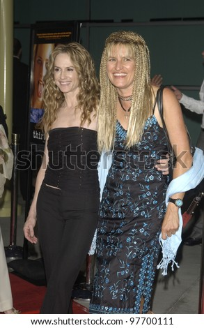 Actress HOLLY HUNTER (left) & director CATHERINE HARDWICKE at the Los Angeles premiere of her new movie Thirteen. Aug 12, 2003  Paul Smith / Featureflash