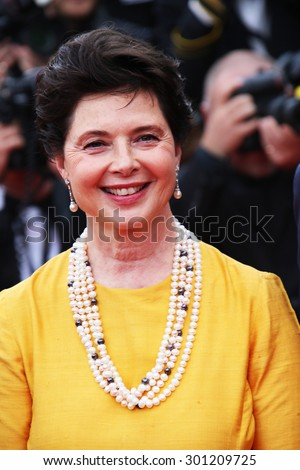 Actress Isabella Rossellini attends the 'Sicario' premiere during the 68th annual Cannes Film Festival on May 19, 2015 in Cannes, France. - stock photo