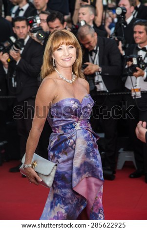 Actress Jane Seymour attends Opening Ceremony 'La Tete Haute' Premiere. 68th Annual Cannes Film Festival at Palais des Festivals on May 13, 2015 in Cannes, France. - stock photo