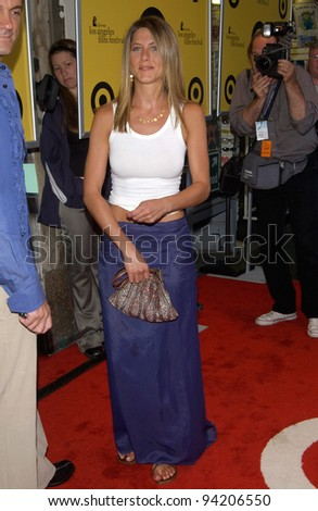Actress JENNIFER ANISTON at the premiere of her new movie The Good Girl, the closing night movie of the 2002 IFP/West-Los Angeles Film Festival. 29JUN2002.   Paul Smith / Featureflash - stock photo