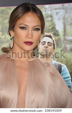 Actress Jennifer Lopez arrives at the premiere of 'What To Expect When You're Expecting' held at Grauman's Chinese Theatre in Hollywood. May 14, 2012 - stock photo