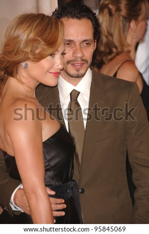 Actress JENNIFER LOPEZ & husband singer MARC ANTHONY at the 2006 Women in Film Crystal+Lucy Awards in Century City. June 6, 2006  Los Angeles, CA.  2006 Paul Smith / Featureflash - stock photo