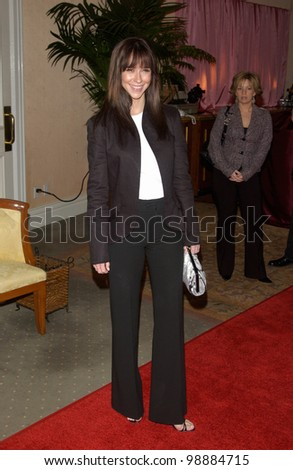Actress JENNIFER LOVE HEWITT at a luncheon at the Beverly Hills Hotel hosted by In Style magazine and A Diamond Is Forever to unveil the 2004 award season designer gowns & diamonds. January 21, 2004 - stock photo