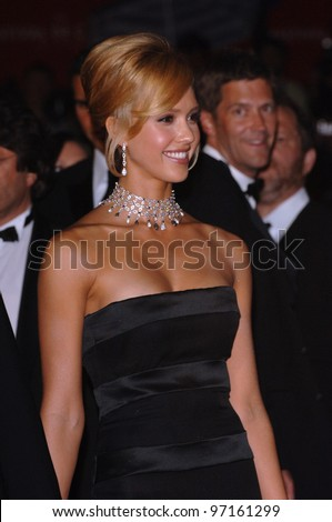Actress JESSICA ALBA at the gala screening of her movie Sin City at the 58th Annual Film Festival de Cannes. May 18, 2005 Cannes, France.  2005 Paul Smith / Featureflash - stock photo