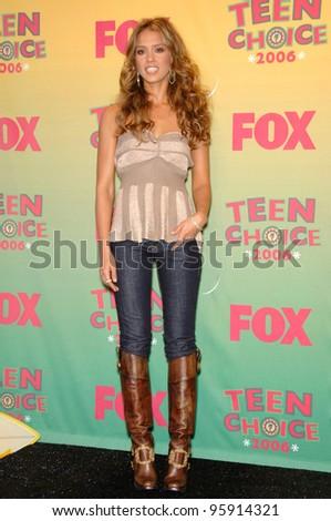 Actress JESSICA ALBA at the 2006 Teen Choice Awards at Universal City, Hollywood 20AUG2006  Los Angeles, CA  2006 Paul Smith / Featureflash - stock photo