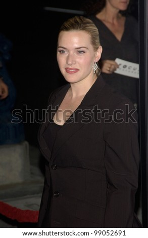 Actress KATE WINSLET at the world premiere of her new movie Eternal Sunshine of the Spotless Mind, in Beverly Hills, CA. March 9, 2004