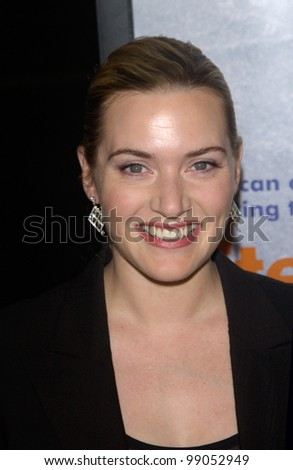Actress KATE WINSLET at the world premiere of her new movie Eternal Sunshine of the Spotless Mind, in Beverly Hills, CA. March 9, 2004 - stock photo