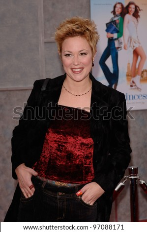 Actress KIM RHODES at the Hollywood premiere of Walt Disney Pictures' Ice Princess, at the El Capitan Theatre. March 13, 2005: Los Angeles, CA.  2005 Paul Smith / Featureflash