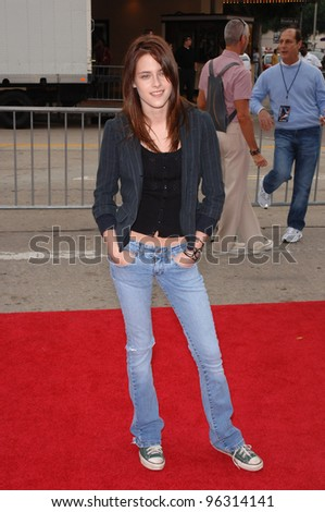 Actress KRISTEN STEWART at the Los Angeles premiere of her new movie Zathura. November 6, 2005  Los Angeles, CA.  2005 Paul Smith / Featureflash - stock photo