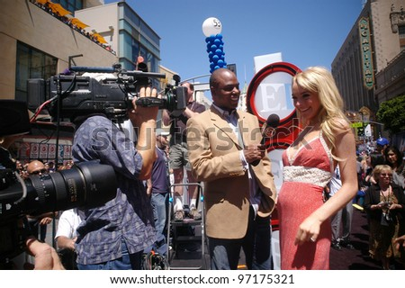 Actress LINDSAY LOHAN at the world premiere, on Hollywood Boulevard, of her new movie Walt Disney Pictures' Herbie: Fully Loaded. June 19, 2005 Los Angeles, CA  2005 Paul Smith / Featureflash - stock photo