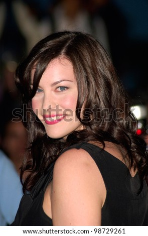 Actress LIV TYLER at party in Cannes to promote her new movie The Lord of the Rings. The party was held in the medieval Chateau de Castellaras in Mougins. 13MAY2001.   Paul Smith/Featureflash - stock photo