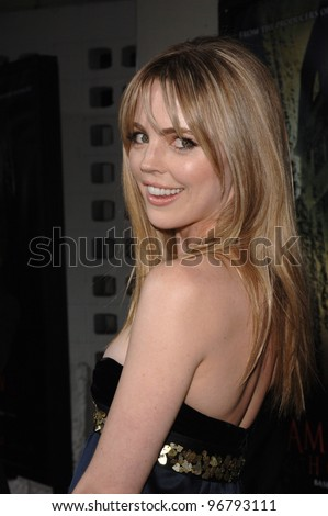 Actress MELISSA GEORGE at the world premiere, in Hollywood, of her new movie The Amityville Horror. April 7, 2005 Los Angeles, CA.  2005 Paul Smith / Featureflash - stock photo