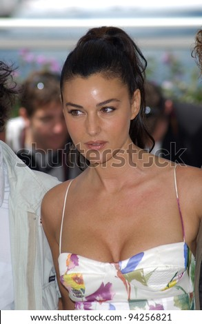 Actress MONICA BELLUCCI at the Cannes Film Festival to promote her new movie Irreversible. 24MAY2002.   Paul Smith / Featureflash - stock photo