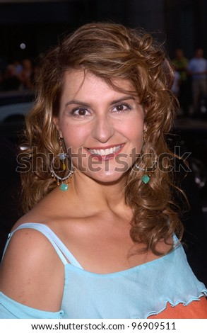 Actress NIA VARDALOS at the Los Angeles premiere of The Manchurian Candidate. July 22, 2004