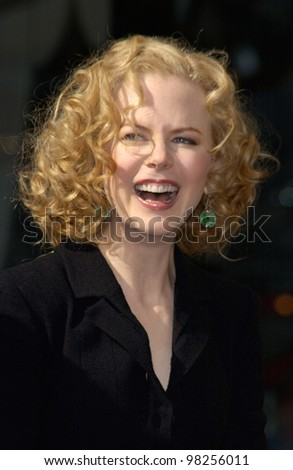 Actress NICOLE KIDMAN on Hollywood Boulevard where she was honored with a star on the Hollywood Walk of Fame. 13JAN2003  Paul Smith / Featureflash - stock photo