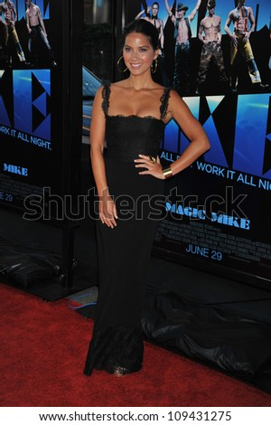 "Actress Olivia Munn arrives at the 2012 Los Angeles Film Festival premiere of ""Magic Mike"" held at the at Regal Cinemas L.A Live."