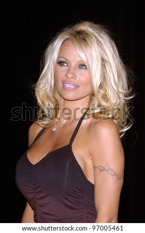 Actress PAMELA ANDERSON at the 4th Annual Adopt-A-Minefield Gala at the Century Plaza Hotel, Beverly Hills, California. October 15, 2004
