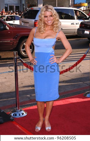 Actress/pop star JESSICA SIMPSON at the Los Angeles premiere of her new movie The Dukes of Hazzard. July 28, 2005 Los Angeles, CA  2005 Paul Smith / Featureflash - stock photo