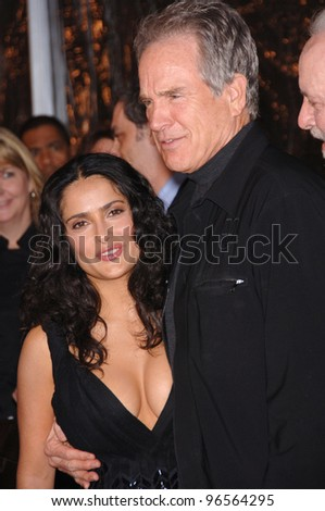 Actress SALMA HAYEK & actor WARREN BEATTY at the Los Angeles premiere of her new movie Ask the Dust. March 2, 2006  Los Angeles, CA.  2006 Paul Smith / Featureflash