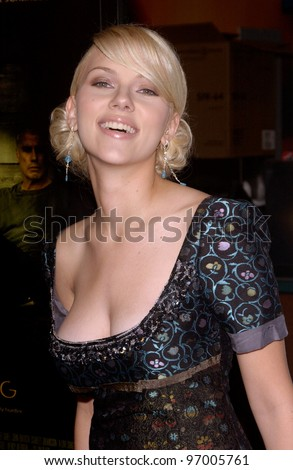 Actress SCARLETT JOHANSSON at the Hollywood Film Festival premiere of her new movie A Love Song for Bobby Long. October 17, 2004 - stock photo