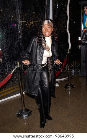 Actress SHAR JACKSON at the world premiere, in Los Angeles, of Antitrust. 10JAN2001.   Paul Smith/Featureflash