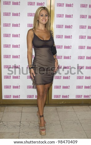 Actress SHAUNA SAND at the Los Angeles premiere of Legally Blonde 2. July 1, 2003  Paul Smith / Featureflash