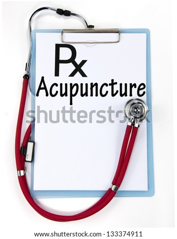 Acupuncture diagnosis sign - stock photo