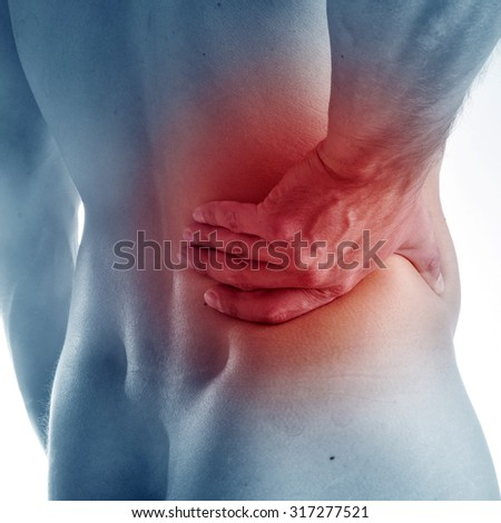 Acute pain in a neck - stock photo