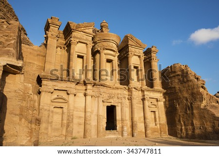 Ad Deir, The Monastery Temple of Petra, Jordan - stock photo