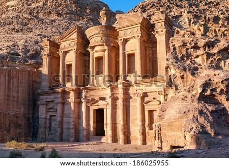 Ad Deir, The Monastery temple, Petra, Jordan - stock photo
