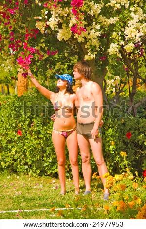Adam and Eve like - stock photo