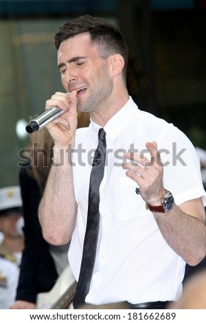 Adam Levine on stage for NBC Today Show Concert with Maroon 5, Rockefeller Center, New York, NY, May 28, 2007 - stock photo