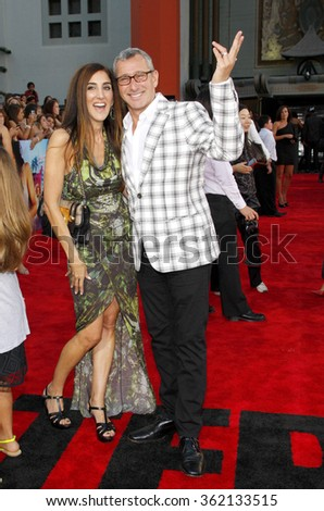 """Adam Shankman and Jennifer Gibgot at the Los Angeles premiere of """"Step Up Revolution"""" held at the Grauman's Chinese Theatre in Los Angeles, California, United States on July 17, 2012.   - stock photo"""