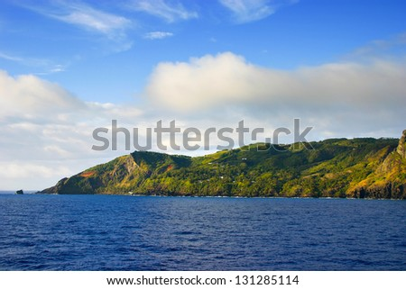 Adamstown on Pitcairn Island in the South Pacific
