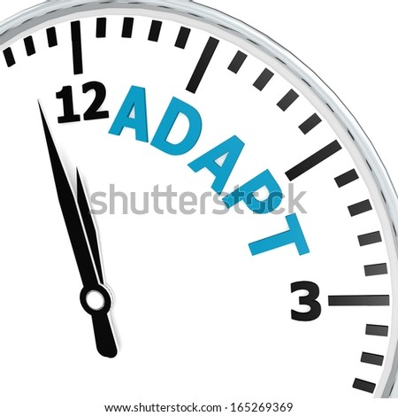Adapt clock - stock photo