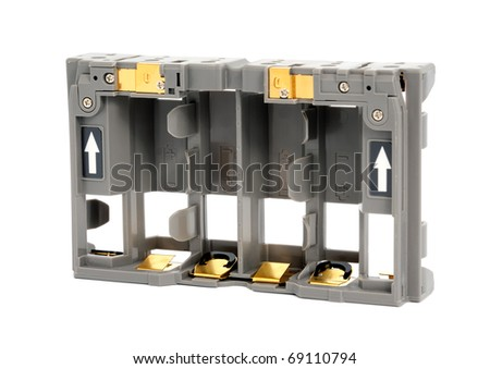Adapter AA batteries for the camera battery grip - stock photo