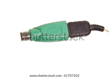 Adapter PS2 to USB - stock photo