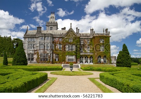 Adare castle hotel and gardens - Ireland - stock photo